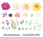 big collection of floral... | Shutterstock .eps vector #1163331190
