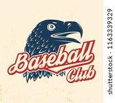 baseball club badge. vector... | Shutterstock .eps vector #1163339329