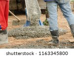 workers with boots equalize... | Shutterstock . vector #1163345800
