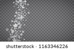 blizzard snowflakes on... | Shutterstock .eps vector #1163346226