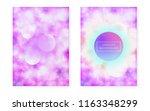 bauhaus cover set with liquid... | Shutterstock .eps vector #1163348299