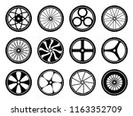 bicycle wheels set with tires... | Shutterstock . vector #1163352709