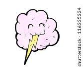 cute thunder cloud cartoon | Shutterstock .eps vector #116335324