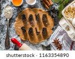 bake sake christmas background... | Shutterstock . vector #1163354890