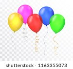 vector realistic colorful... | Shutterstock .eps vector #1163355073