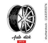 vector engraved style... | Shutterstock .eps vector #1163355076