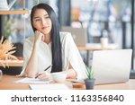 protrait of beautiful...   Shutterstock . vector #1163356840