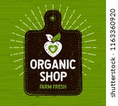organic shop logo  farm fresh... | Shutterstock .eps vector #1163360920