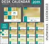 desk calendar 2019  desktop... | Shutterstock .eps vector #1163361613