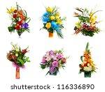 selection of flower arrangement | Shutterstock . vector #116336890