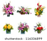 Selection Of Flower Arrangement