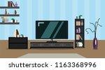 room interior design modern... | Shutterstock .eps vector #1163368996