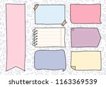 set of cute hand drawn doodle... | Shutterstock .eps vector #1163369539