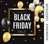black friday sale inscription... | Shutterstock .eps vector #1163376136