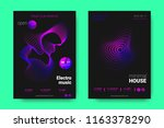 poster of electronic music... | Shutterstock .eps vector #1163378290
