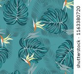 summer seamless pattern with... | Shutterstock .eps vector #1163380720