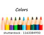 color pencils isolated on white ... | Shutterstock . vector #1163384950