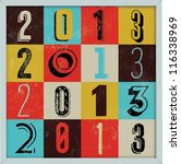 colorful retro vintage 2013 new ... | Shutterstock .eps vector #116338969