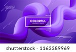 modern colorful liquid shape.... | Shutterstock .eps vector #1163389969