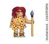 cave man cartoon character.... | Shutterstock .eps vector #1163393896