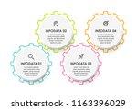business mechanism infographic... | Shutterstock .eps vector #1163396029