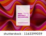 distortion of stripes. abstract ... | Shutterstock .eps vector #1163399059
