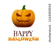happy halloween typographic... | Shutterstock .eps vector #1163403010