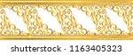 seamless golden ornamental... | Shutterstock .eps vector #1163405323