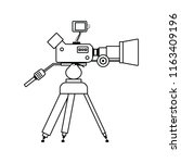 movie camera icon. thin line... | Shutterstock .eps vector #1163409196