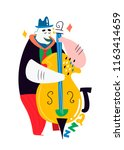 jazz poster. man with... | Shutterstock .eps vector #1163414659
