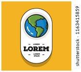 planet earth badge sticker... | Shutterstock .eps vector #1163415859