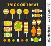 set of isolated trick or treat... | Shutterstock . vector #1163426443