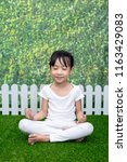 asian chinese little girl... | Shutterstock . vector #1163429083