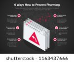 simple vector infographic for 6 ... | Shutterstock .eps vector #1163437666