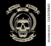 vintage motorcycle logo design   Shutterstock .eps vector #1163438860