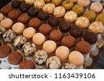 gourmet brigadeiro   different... | Shutterstock . vector #1163439106