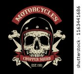 vintage motorcycle logo | Shutterstock .eps vector #1163441686