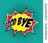 pop art comic speech bubbles... | Shutterstock .eps vector #1163441929