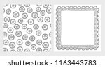 cute hand drawn abstract vector ... | Shutterstock .eps vector #1163443783