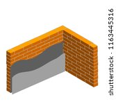 the scheme of stacking grey... | Shutterstock . vector #1163445316