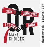 typography slogan on bag strap... | Shutterstock .eps vector #1163464369