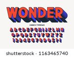 trendy 3d comical font design ... | Shutterstock .eps vector #1163465740