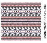 illustration of maori symbols... | Shutterstock .eps vector #116348503