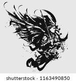 battle angel in armor with a...   Shutterstock .eps vector #1163490850