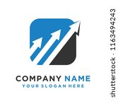 faster the future logo template ... | Shutterstock .eps vector #1163494243