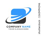 faster the future logo template ... | Shutterstock .eps vector #1163494246
