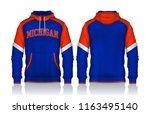 hoodie shirts template.jacket... | Shutterstock .eps vector #1163495140