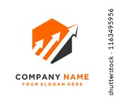 faster the future logo template ... | Shutterstock .eps vector #1163495956