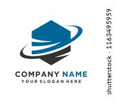 faster the future logo template ... | Shutterstock .eps vector #1163495959