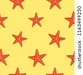 cute kids starfish seamless... | Shutterstock .eps vector #1163499250